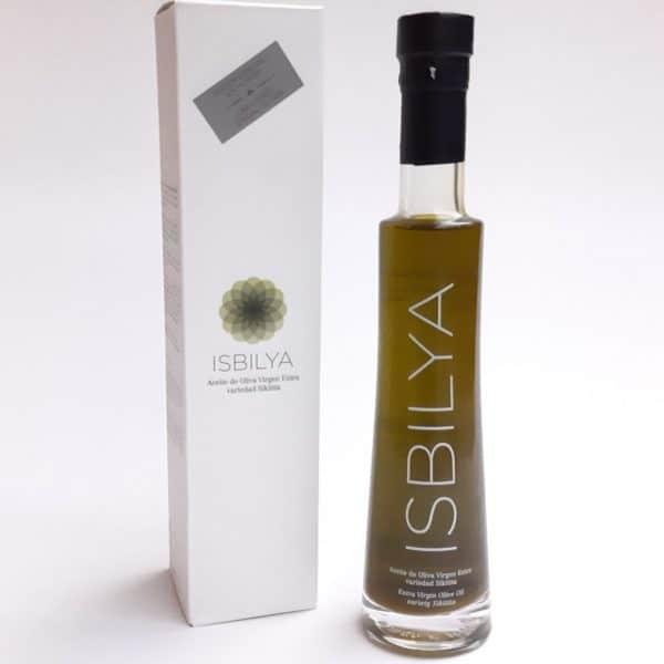 aceite de oliva virgen extra isbilya sin filtrar